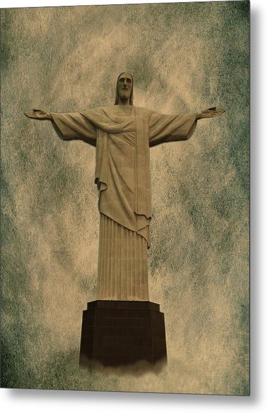 Christ The Redeemer Brazil Metal Print