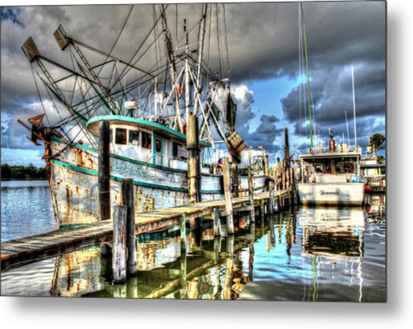 Christi Lynne At Billy's Seafood Metal Print