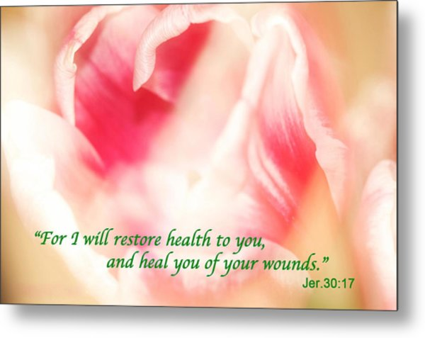 I Will Restore Health To You  Metal Print