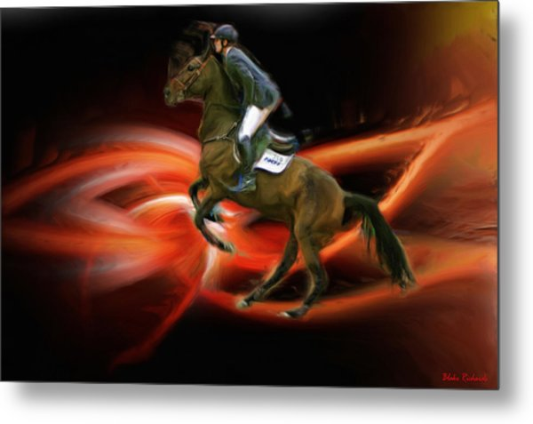 Christian Heineking On Horse Nkr Selena Metal Print