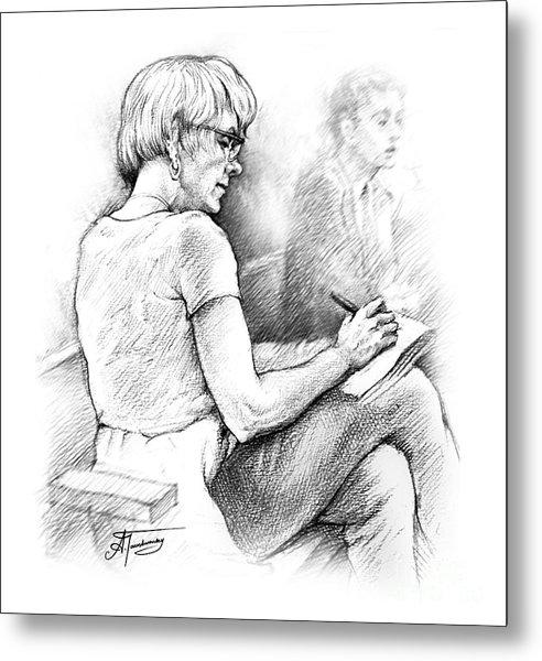 Christie Blatchford In Court Metal Print
