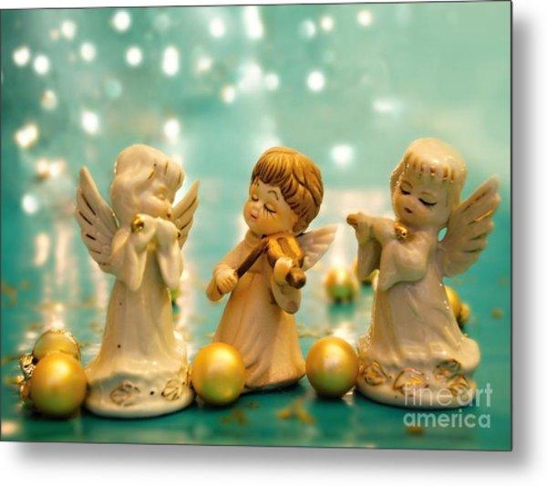 Christmas Angels 3 Metal Print