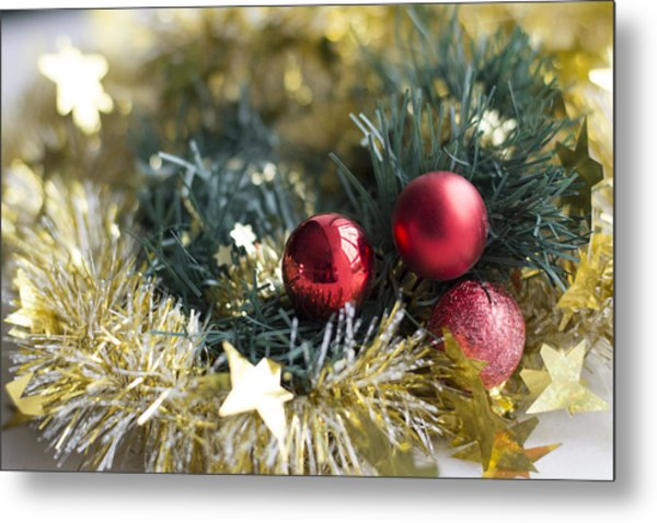 Metal Print featuring the photograph Christmas Baubles by Jocelyn Friis