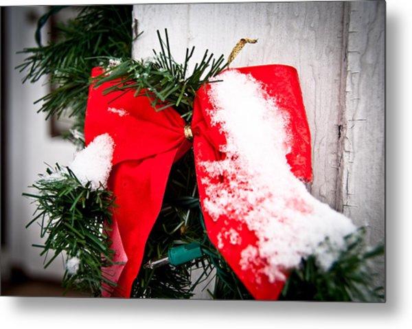 Christmas Bow  Metal Print by Nickaleen Neff