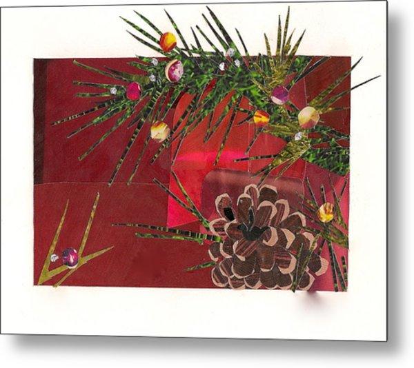 Christmas Branches Metal Print