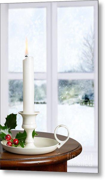 Christmas Candle Metal Print