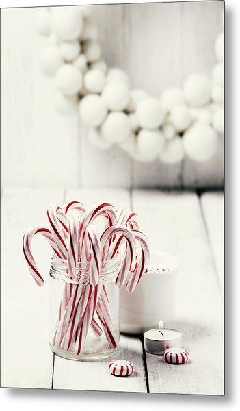 Christmas Candy Metal Print by Claudia Totir