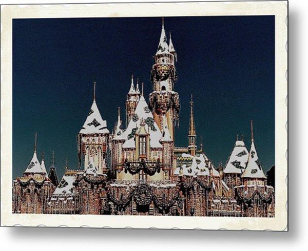 Christmas Castle Metal Print