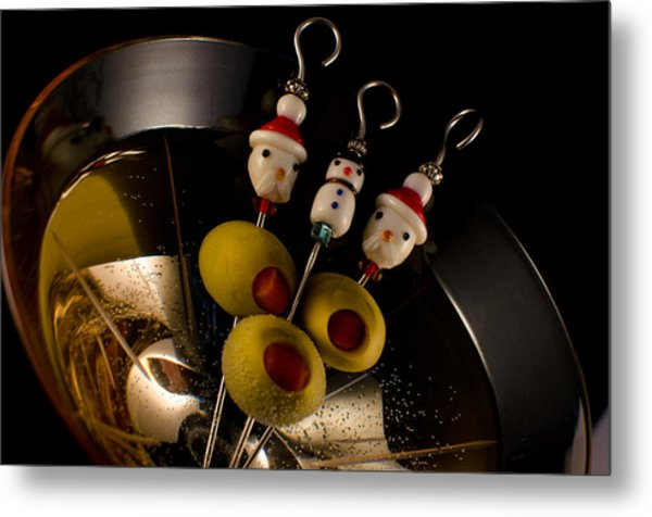 Christmas Crowded Martini Metal Print