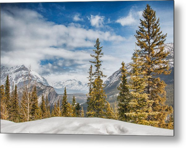 Christmas Day In Banff Metal Print