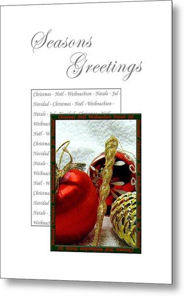 Christmas Decoration 3 Metal Print
