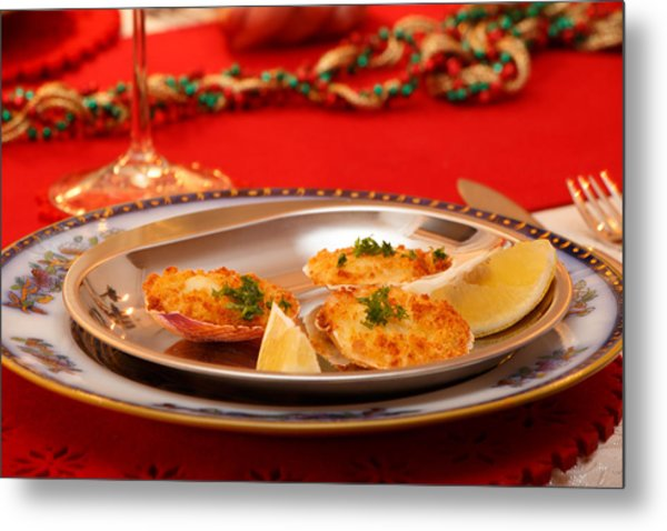 Metal Print featuring the photograph Christmas Eve Starter by Paul Indigo