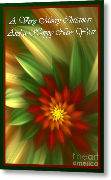 Christmas Flower Metal Print