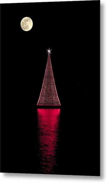 Christmas Full Moon Metal Print