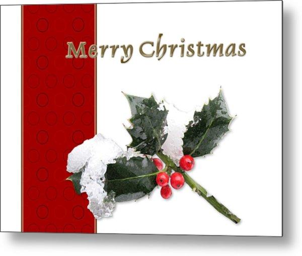 Christmas Holley Metal Print