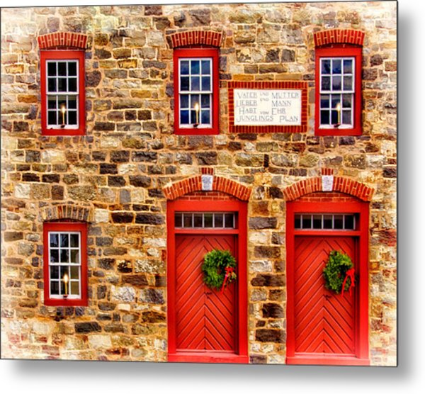 Christmas In Bethlehem Pa Metal Print