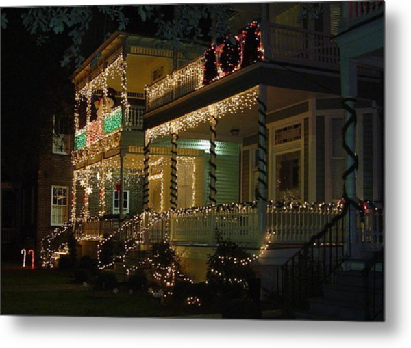 Christmas In Charleston Metal Print by Richard Marcus