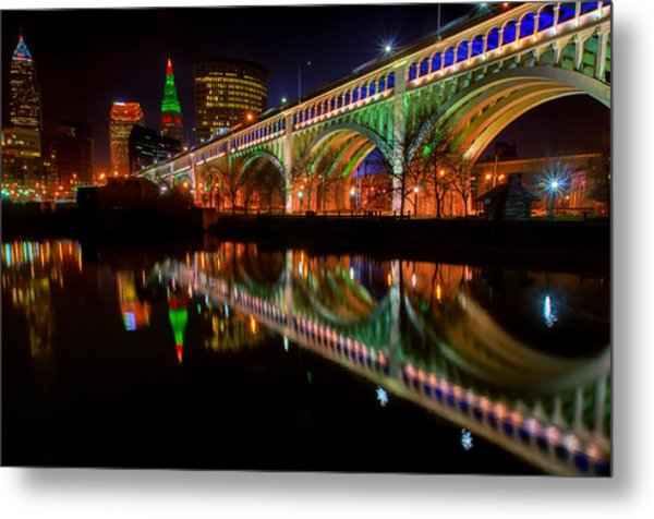 Christmas In Cleveland Metal Print