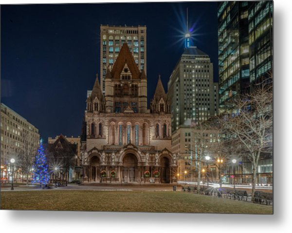Christmas In Copley  Metal Print