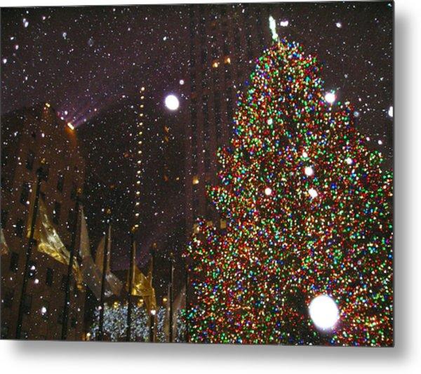 Christmas In New York City Metal Print