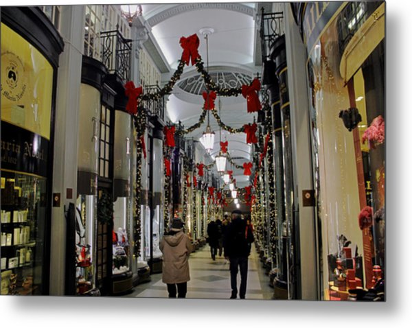 Christmas In Piccadilly Arcade Metal Print