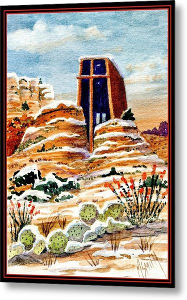 Christmas In Sedona Metal Print