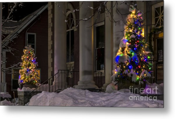 Christmas In Stowe Vermont. Metal Print