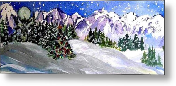 Christmas In The Mountains Metal Print