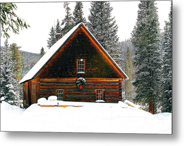 Christmas In The Rockies Metal Print