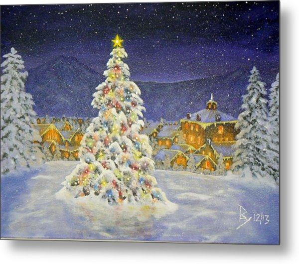 Christmas In The Valley Metal Print