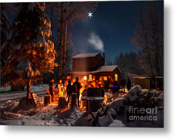 Christmas In The Woods Metal Print