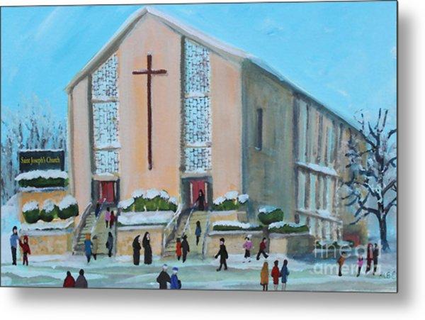 Christmas Mass At Saint Joseph's Church Metal Print