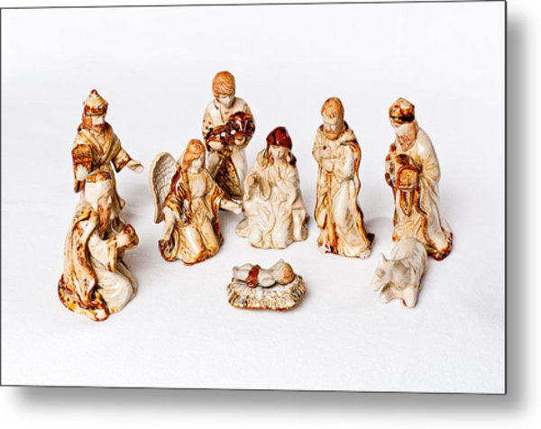 Christmas Nativity Metal Print