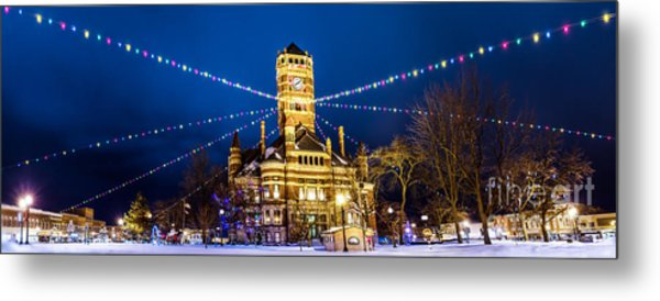 Christmas On The Square Metal Print