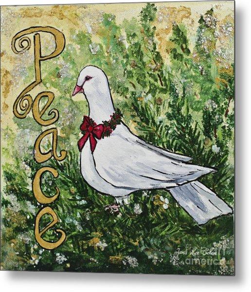 Christmas Peace Dove Metal Print