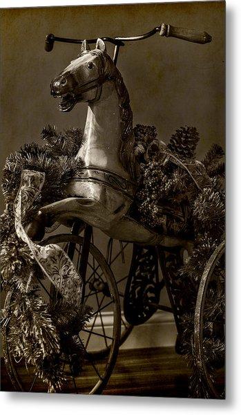 Christmas Pony Metal Print