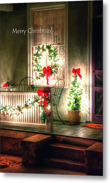 Christmas Porch Metal Print