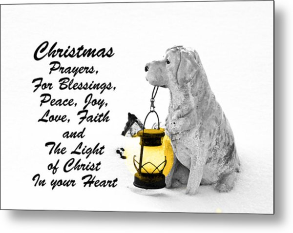 Christmas Prayers Metal Print