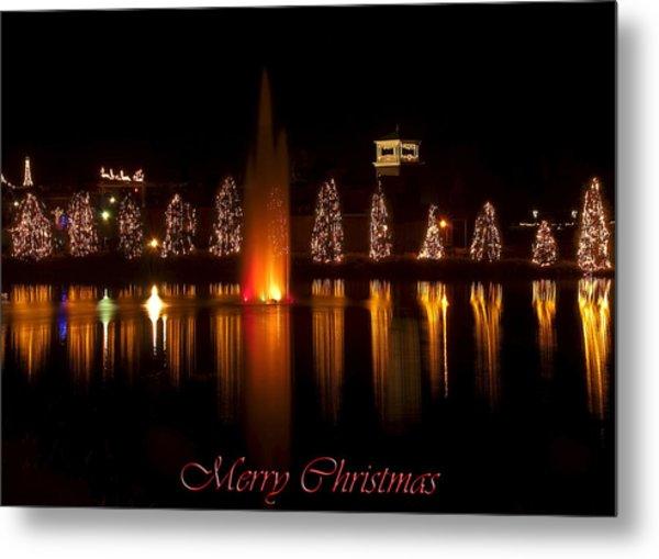 Christmas Reflection - Christmas Card Metal Print