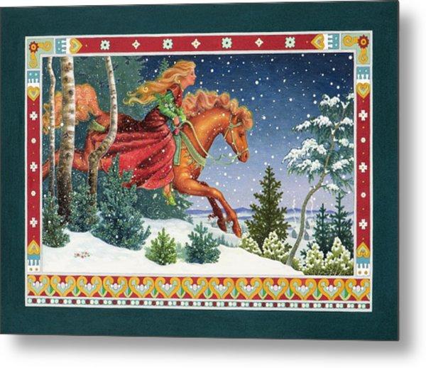 Christmas Ride Metal Print