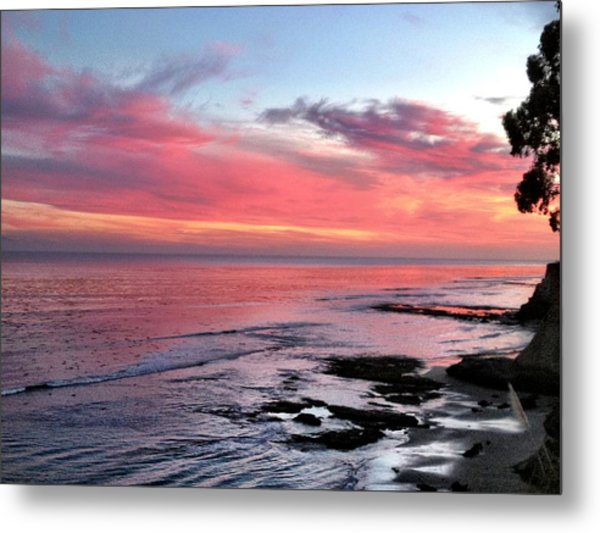 Christmas Sunset Metal Print