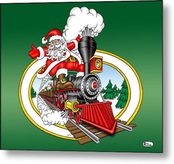 Christmas Train Metal Print