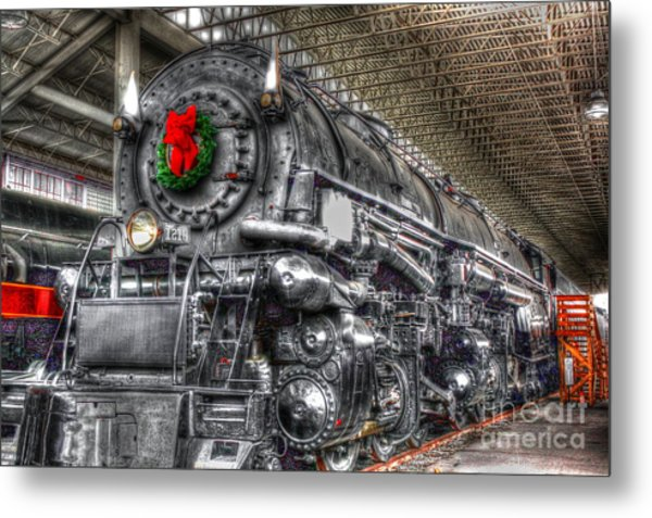 Christmas Train-the Holiday Station Metal Print