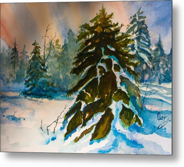 Christmas Tree Forest Metal Print