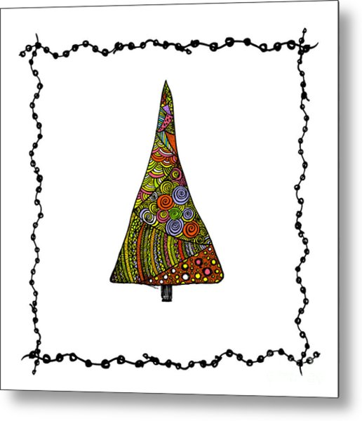 Christmas Tree From Patterns.vector Metal Print