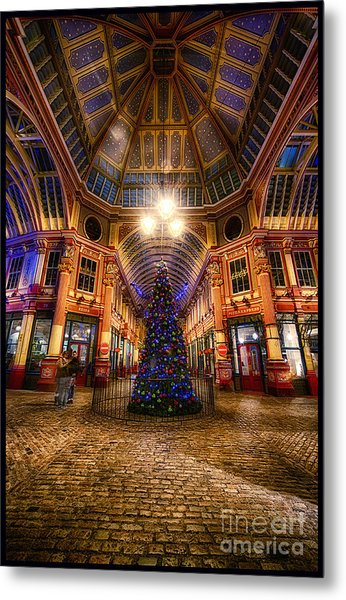 Christmas Tree Leadenhall London I Metal Print