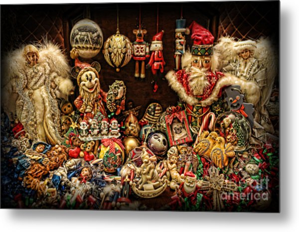 Christmas Tree Ornaments Metal Print by Lee Dos Santos