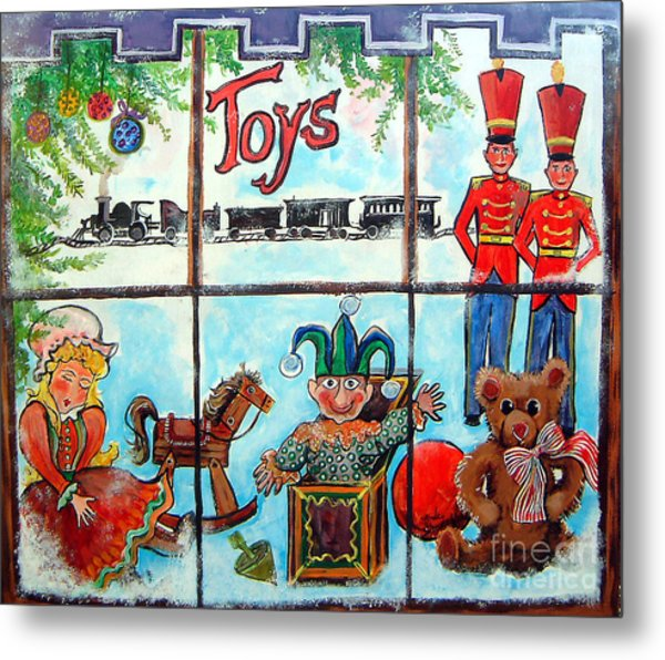 Christmas Window Metal Print