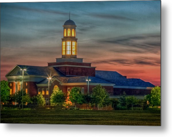 Christopher Newport University Trible Library At Sunset Metal Print