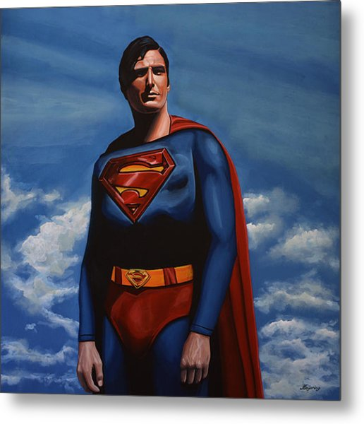 Christopher Reeve As Superman Metal Print